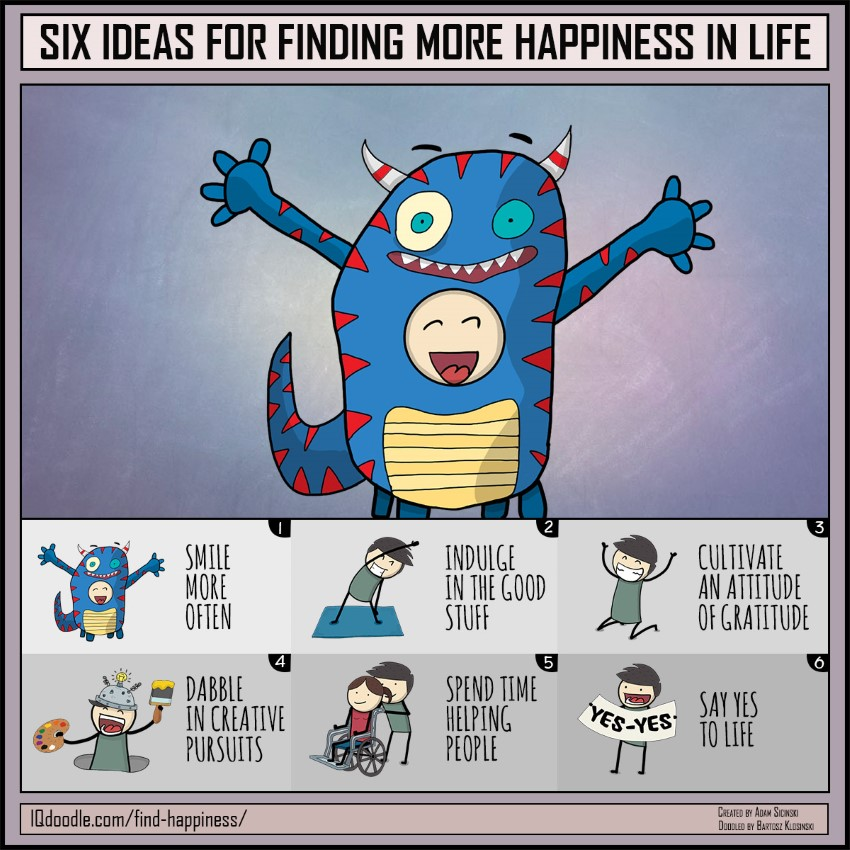 Six Ideas for Finding More Happiness