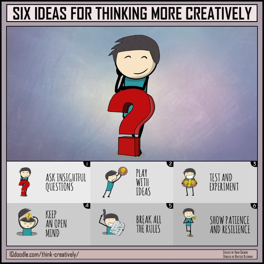 Six Ideas for Thinking More Creatively