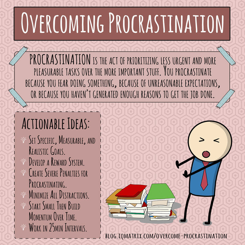 "overcoming thesis procrastination There is no single ""best way"" to overcome procrastination coming up with the perfect thesis can be so intimidating that you don't even want to get started."
