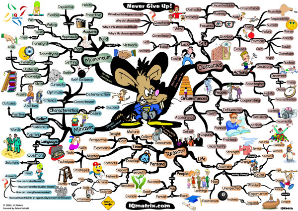 Never Give Up, Never Quit - Mind Map