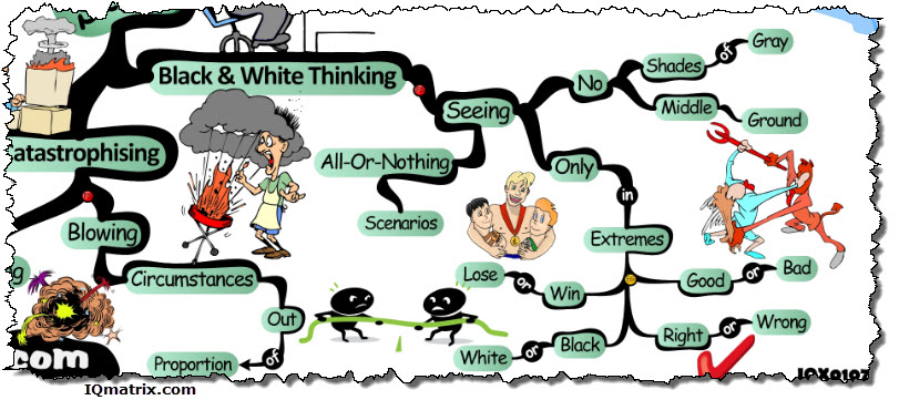 Black and White Thinking: Unhelpful Thinking Styles