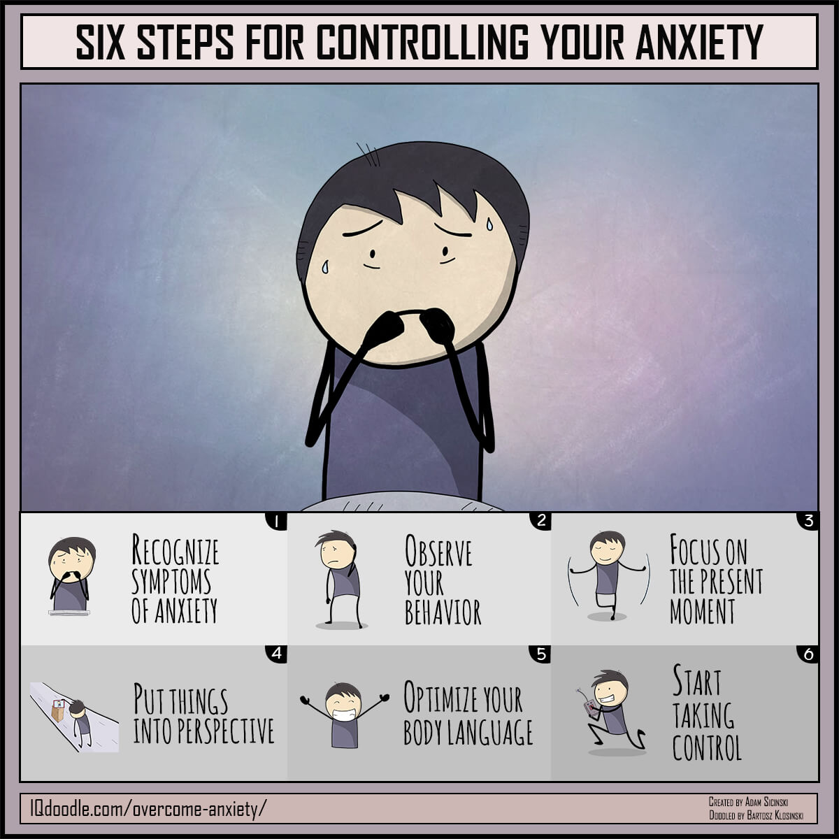 Six Steps for Controlling Your Anxiety