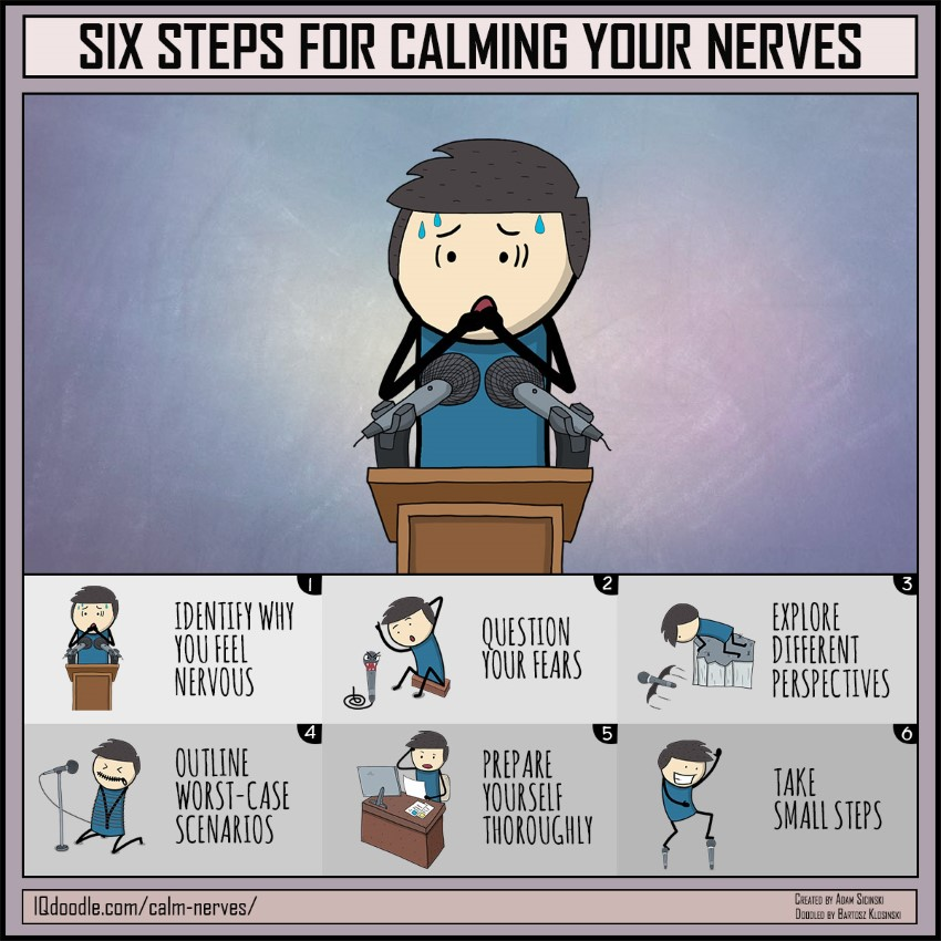 Tips for calming nerves