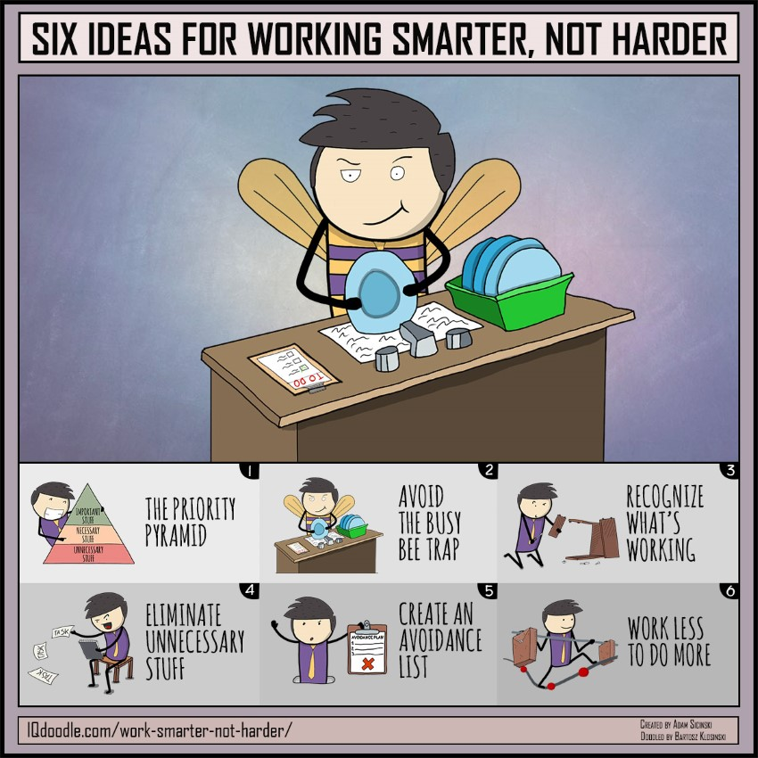 work harder not smarter