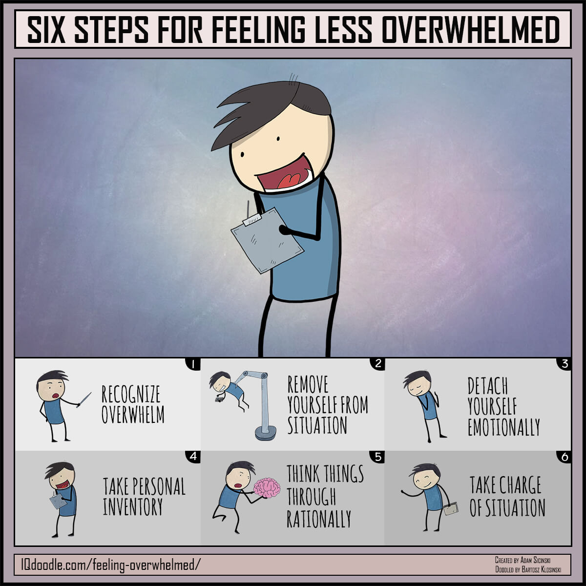 Six Steps for Feeling Less Overwhelmed